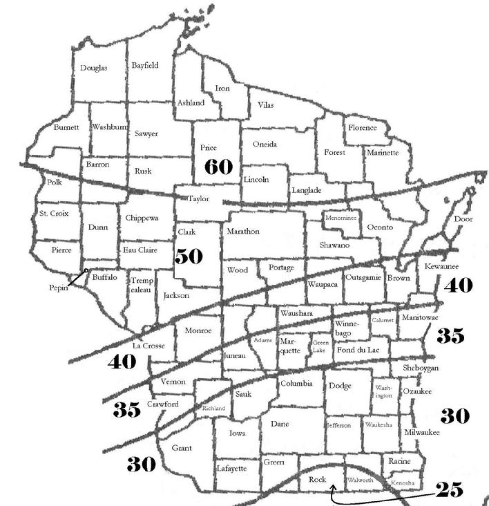 Snow Load Map Wisconsin