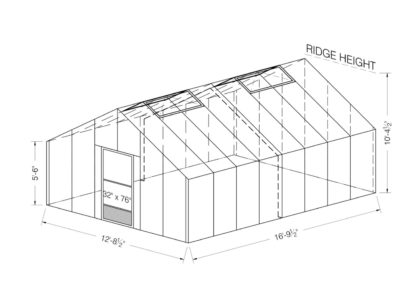 Food Production Greenhouses 12x16