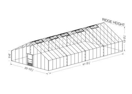 Food Production Greenhouses 20x40