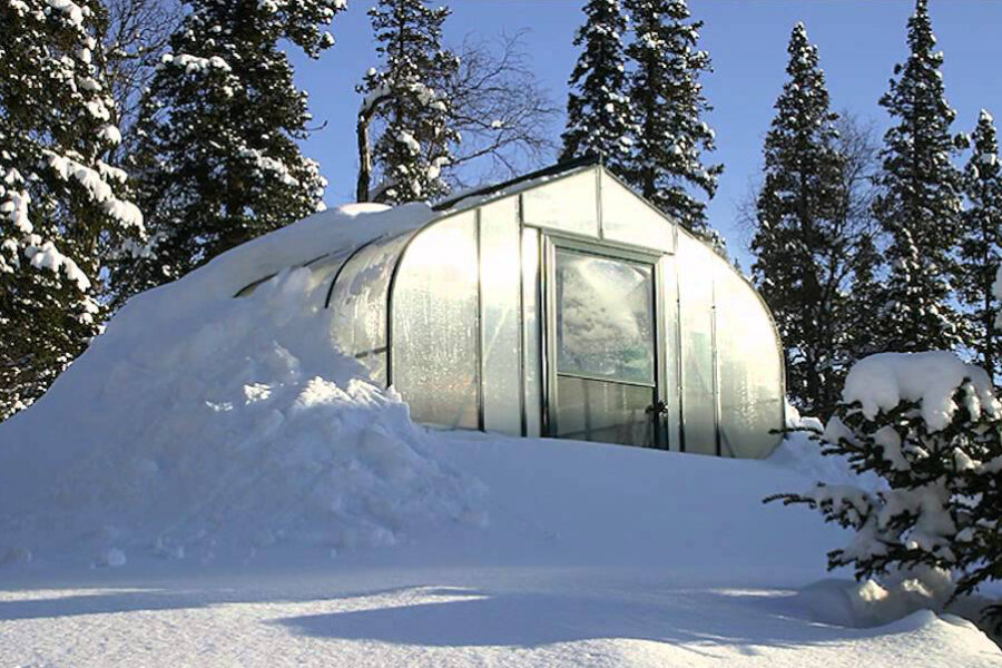 Wisconsin Greenhouse Snow Covered